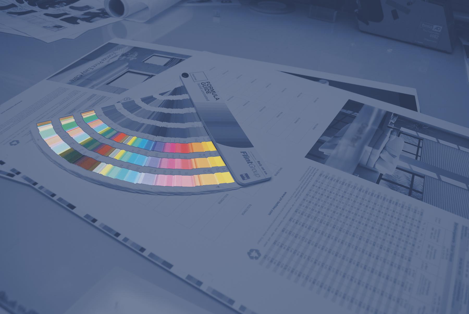 Druckerei Farbfächer